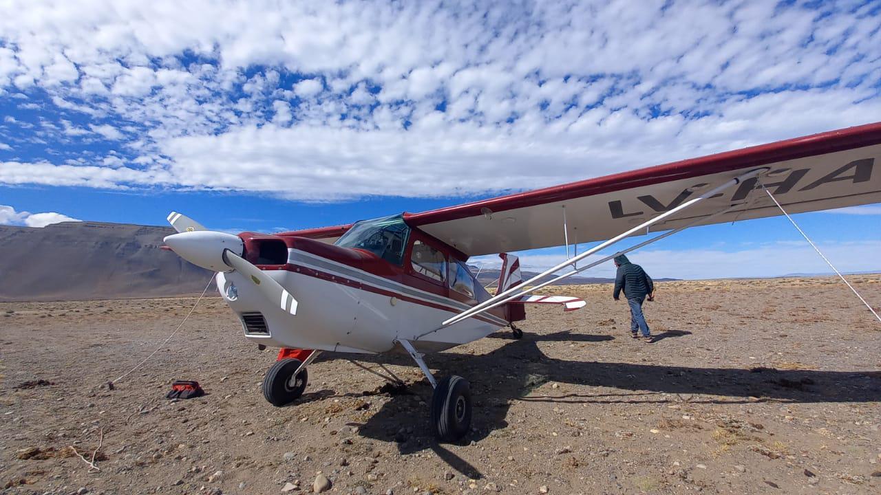 Aviones de turistas en El Chalten 1