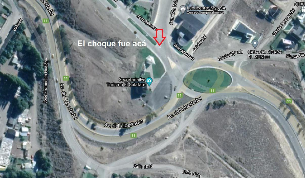 mapa choque