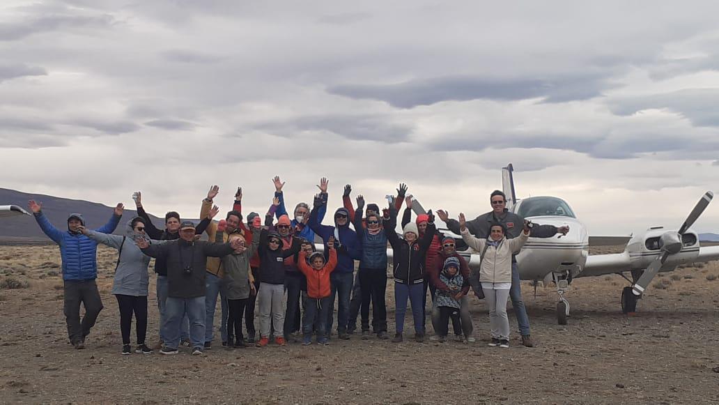Aviones de turistas en El Chalten 2