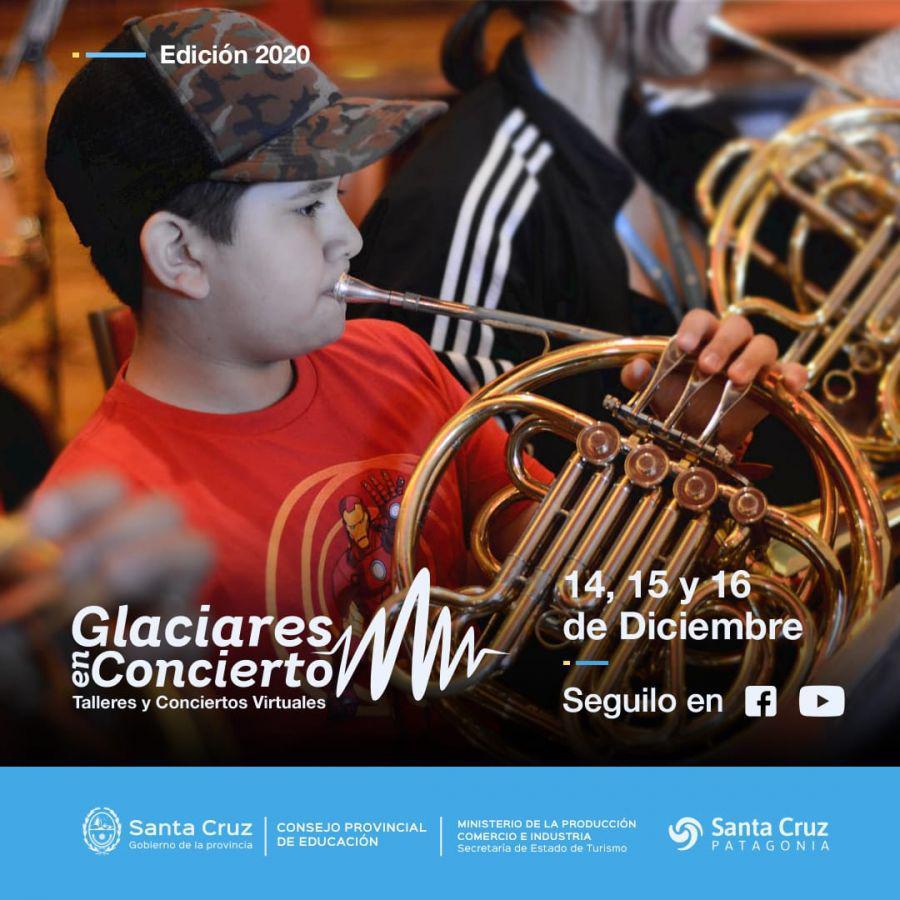 glaciares en concierto flyer