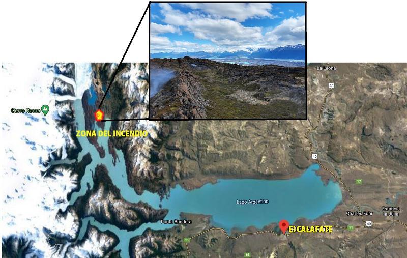 incendio Estancia Cristina mapa