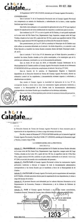 decreto Transferencia de tierras