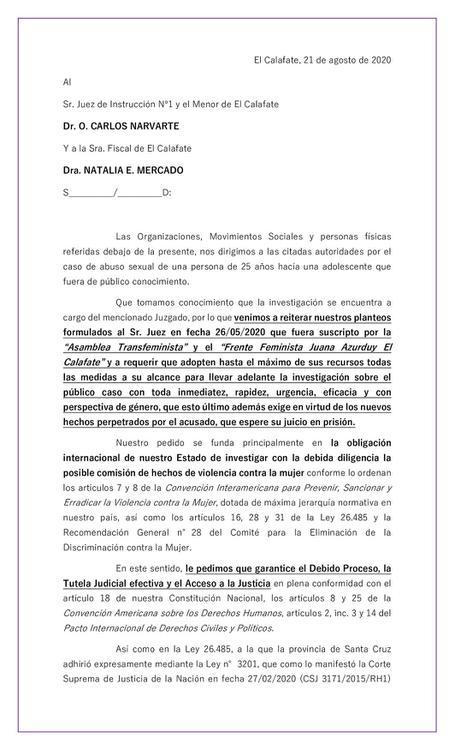 Carta a Narvarte