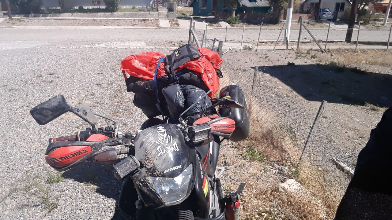 Moto accidentada