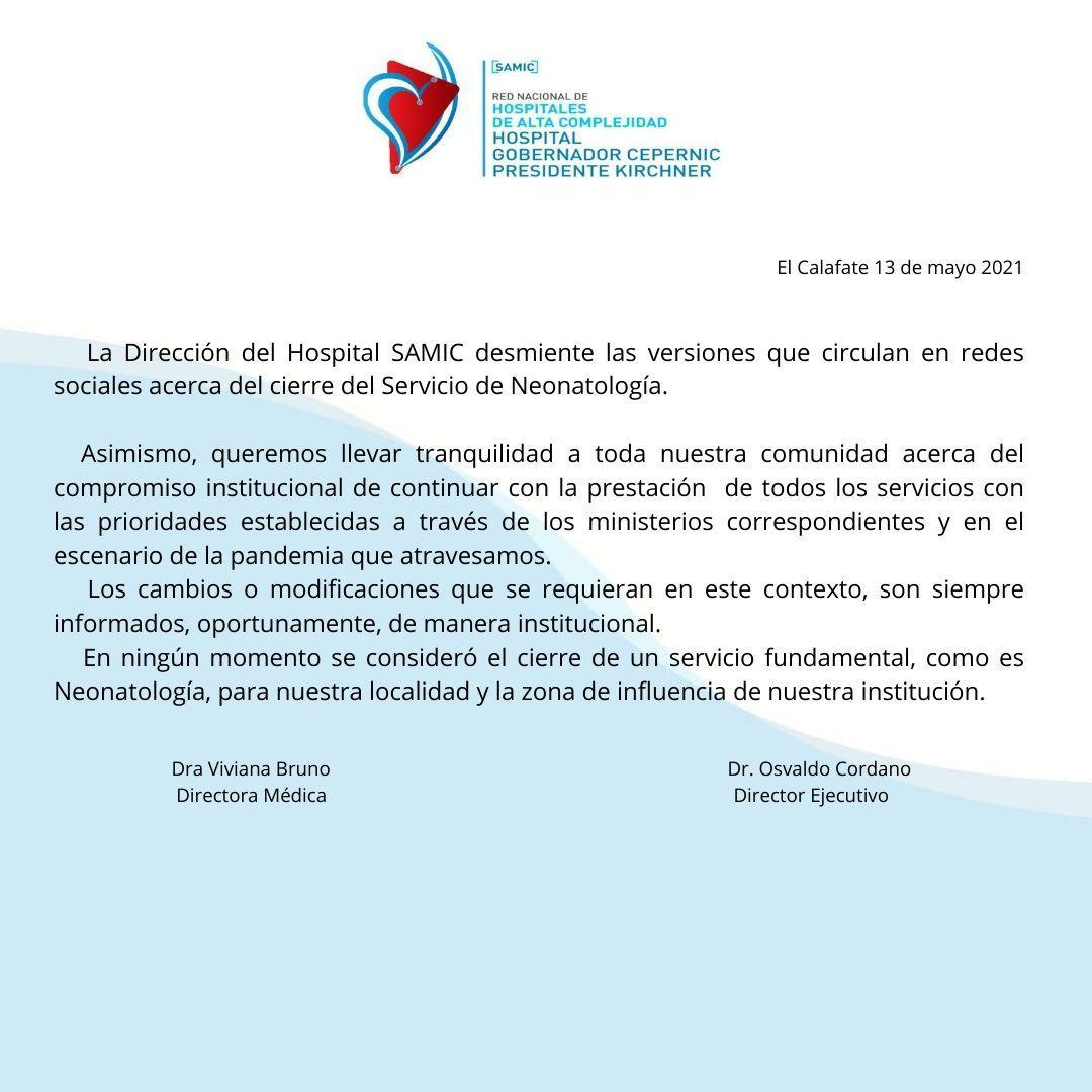 comunicado SAMIC