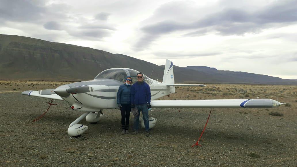 Aviones de turistas en El Chalten