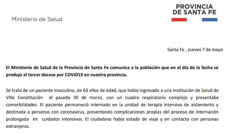comunicado Santa Fe