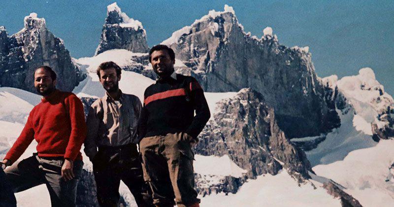 Bettinelli, Köpcke y Aguirre frente al cerro Marconi
