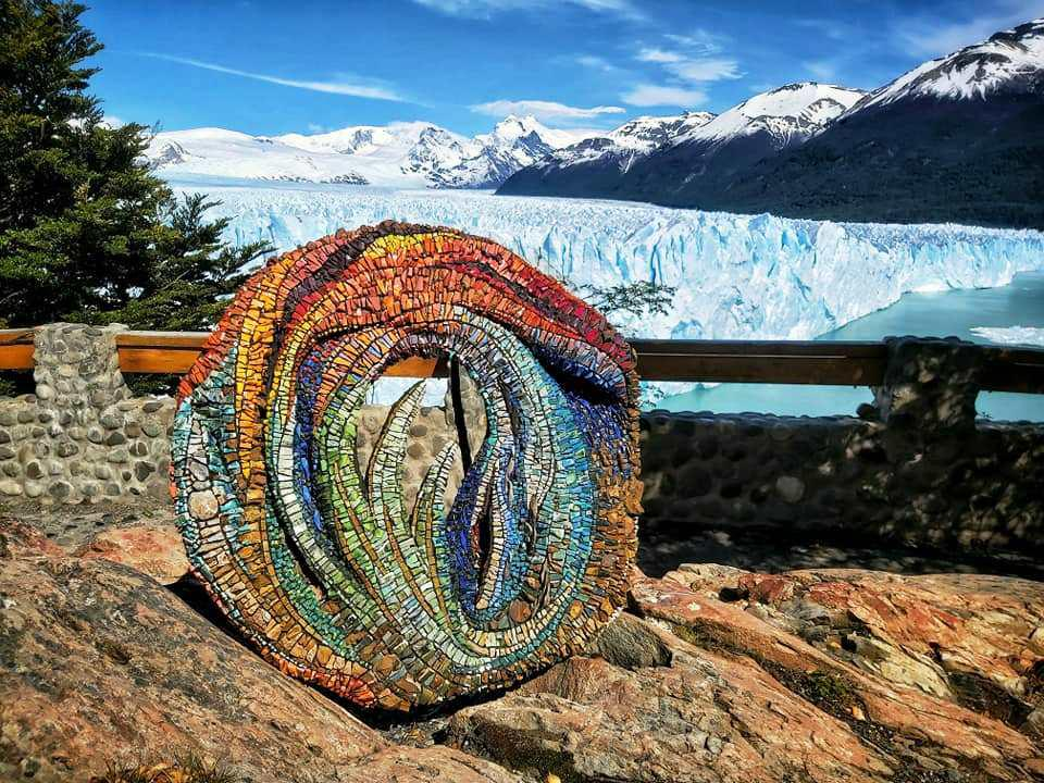 alejandra Martin Obra en el Glaciar 1